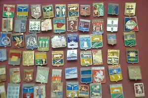100 Original badge Soviet Russia USSR cities of Russia and USSR
