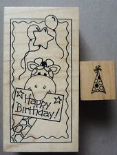 Great Impressions Rubber Stamps, Giraffe Happy Birthday & Party Hat, G280 AA17