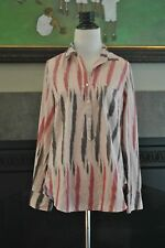 NWT J Crew Ikat Popover Shirt 0 Extra Small XS 45377 $88 Sunwashed Pink