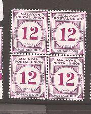 Malaysia MPU Postage Due SG D20a block of 4 MNH (1ath)