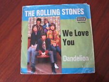 ROLLING STONES We love you Dandelion German picture sleeve 45