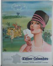"""""""KLEBER-COLOMBES (1928)""""Affiche originale entoilée offset années 60 TROY 45x55cm"""