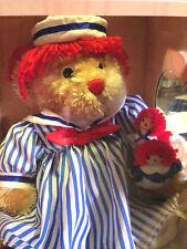 Raggedy Ann 2nd in Series Bear w/ mini dolls Dakin Signature Collection Mib 2000