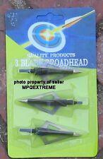 3PC RAZOR SHARP ARROW BROADHEADS FOR CROSSBOW HUNTING