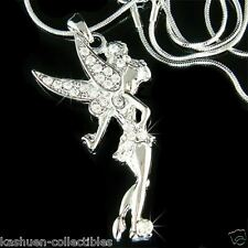 TINKERBELL made with Swarovski Crystal Fairy Tinker Bell Angel Wing Necklace NEW