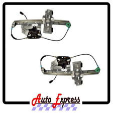 NEW CADILLAC DEVILLE REAR LEFT & RIGHT POWER WINDOW REGULATOR SET PAIR W/ MOTORS