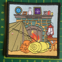 Indoor Camping Badge Patch Girl Guides Scouts Cubs Brownies Sew On Camp Blankets