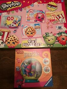 Ravensburger 3d trolls and shopkins 4 in1 puzzle jigsaws