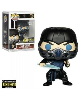 Funko Pop Mortal Kombat Movie Sub-Zero Glow in The Dark EE Exclusive MIB MOC BOX