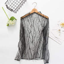 Women Mesh Clubwear Long Sleeve Casual T-shirt Ladies Party Casual Tops Hot Sale