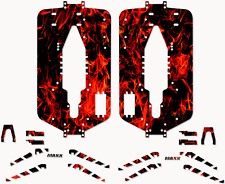 Traxxas T-maxx 3.3 Extended Full Protector Kit Red Flames Chassis Plate TRA5122X
