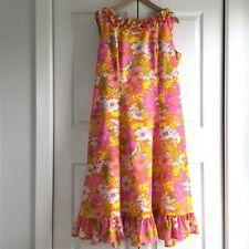 Vintage Ja-Na of Hawaii Floral Dress Size 16 Aloha Carol Mary Honolulu 60s 70s