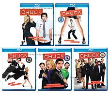 Chuck: Complete Zachary Levi TV Series Seasons 1 2 3 4 5 Box / BluRay Set(s) NEW