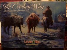 Leanin Tree Lg Christmas Card Set The Cowboy Way Horses 20 Pk New !