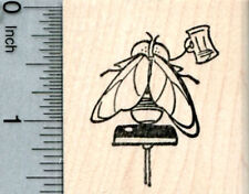 Bar Fly Rubber Stamp, at Tavern, on Stool, Ale House Series E33308 WM