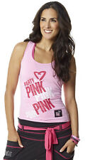 Zumba Fitness Outfits Party In Pink™ Racerback Tank Top Size M Pink NWT