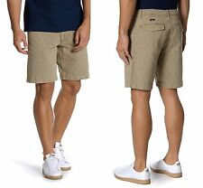 FAHERTY Stargazer Herringbone Cotton Shorts in Dark Khaki Sz.34 NWT