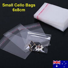 300pcs 6x8cm Cellophane Cello Jewellery Earrings Pendant Bags Self Adhesive