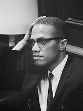Impresión arte cartel vintage foto de los derechos civiles Leader Malcolm X Usa nofl0452