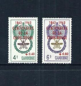 CAMBODIA _ 1963 'RED CROSS' Optd. SET of 2 _ MNH ____(691)