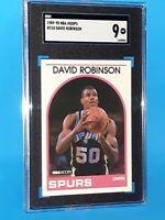1989-1990 David Robinson NBA Hoops 310 RC Rookie Card SGC 9 MINT PSA Comp Invest