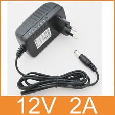AC 100V-240V Adapter DC 12V 2A Switching power supply 2000mA EU plug DC 5.5mm