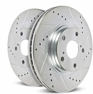Power Stop AR8696XPR Front Evolution Drilled & Slotted Rotor Pair AR8696XPR