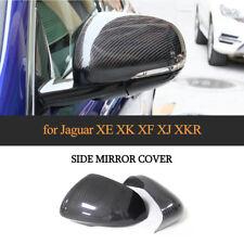Dry Carbon Fiber Mirror Cover Cap Add On Refit For Jaguar XE XEL XF XFL XJ XK