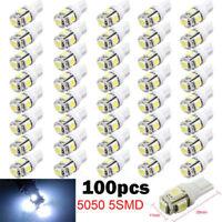 100pcs T10 5050 5SMD LED White Light Car Side Wedge Tail Light Lamp Bright New