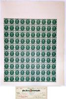 Confederate Sheet (100) Two Cent Green Calhoun & 1918 Dietz Printing Co. Check