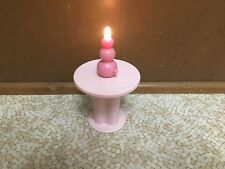 2006 Barbie Doll Dreamhouse Pink Nightstand Table Lamp Living Room Furniture