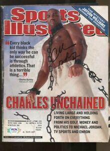 Charles Barkley Signed 2002 Sports Illustrated 3/11 Autographed 76es PSA/DNA
