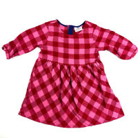 Hanna Andersson Girls Pink Red Brushed Cotton Dress 100 4