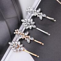 Headwear Shiny Metal Barrette Crystal Hairgrip Rhinestones Hairpins Hair Clips