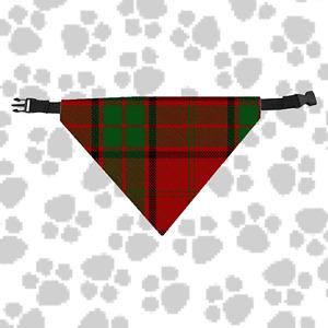 Clan Maxwell Dog Scarf Plaid Tartan Scottish Pet Bandana with Buckled Collar