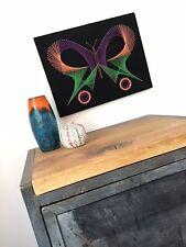 Mid Century 60er 70er Jahre Fadenbild Schmetterling Vintage Dekoration