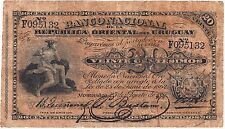 URUGUAY / 20 CENTS, 25/AUGUST/1887, L SERIES # F095132