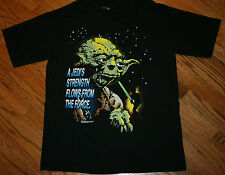 Star Wars A JEDI'S STRENGTH FLOWS FROM THE FORCE Yoda T-Shirt Men Large vintage