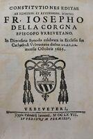 G. della Corgna, SINODO DIOCESANO del 1666 due parti Elenco Vescovi 1667 Orvieto
