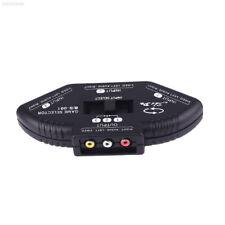 3643 CE51 3 in 1 Port AV Composite RCA Selector Box Switch Splitter Plug w/Cable