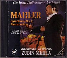 Zubin MEHTA Signiert MAHLER Symphony No.2 Florence Quivar Greenberg 1988 LIVE CD