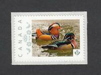 LQ. MANDARIN DUCKS family Canada Picture Postage p7du1/2