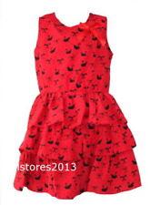 Robes décontractés rouges pour fille de 8 à 9 ans