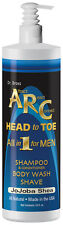 ARC Head To Toe All-In-One Natural Body Wash Shampoo and Shave for Men