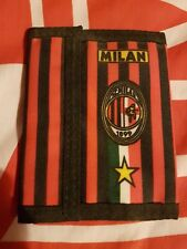 AC MILAN RED AND BLACK STRIP  WALLET WITH BADGE
