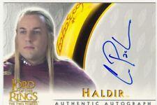 Lord Of The Rings TTT Autograph Card Craig Parker As Haldir
