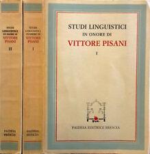 STUDI LINGUISTICI IN ONORE DI VITTORE PISANI VOL.I-II