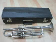 Alte Trompete, Musik Schaller Kaiserslautern, ca. 55 cm + Koffer   1M1202