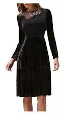 L.K. Bennett X Preen Patti Silk Blend Velvet Dress, Black Size 8 RRP £550