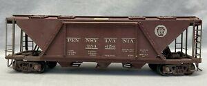 2 Rail O Scale Pennsylvania Railroad 3-Bay Covered Hopper 254650 Built from Kit